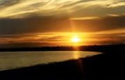 Sonnenuntergang am Stand
