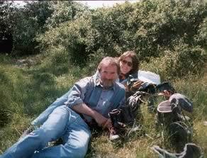 Joachim Maass und Karin Baseda-Maass bei der Mittagsrast