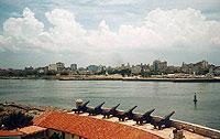 Blick vom Fort auf Havanna