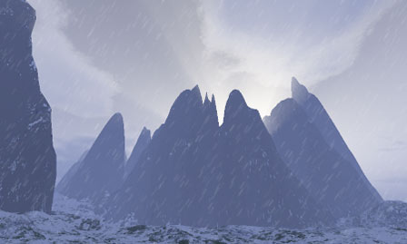 Verschneite Berge (c) by Jan Dintenbusch