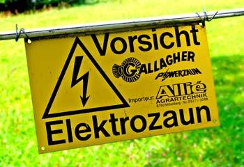 Vorsicht! Stromschlag!