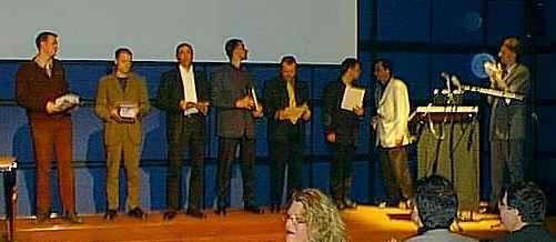 Die Preisträger bei der Verleihung am Sonntag