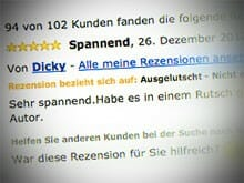 Fake-Rezension bei amazon.de