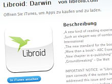 Libroid in Apples iTunes Store