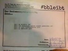 Von Alexander Wrabetz aufgeführte Gründe, warum der Bachmannpreis bleibt (Foto: Tischer)