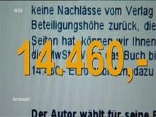 Fast 15.000 Euro möchte einer der Verlage - vom Autor!