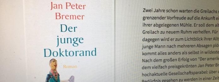 Jan Peter Bremer: Der junge Doktorand