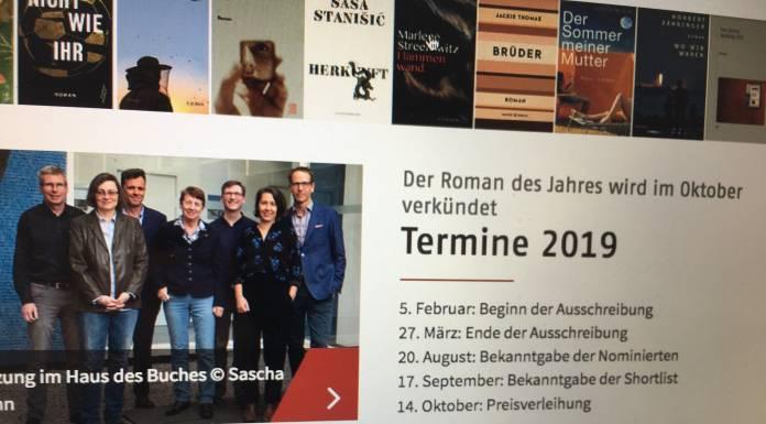 Deutscher Buchpreis 2019: Die Shortlist von Malte Bremer
