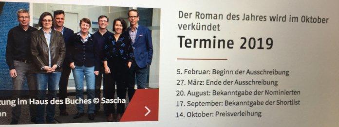Die Shortlist zum Deutschen Buchpreis 2019