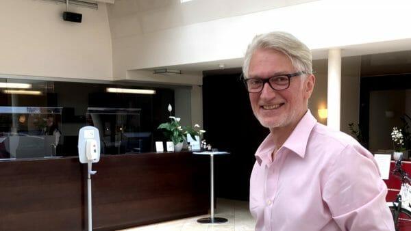 Zufrieden zurück im Hotel: Bachmannpreis-Moderator Christian Ankowitsch (Foto: Tischer)