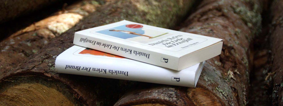Die Bücher »Die Liebe im Ernstfall« und »Der Brand« von Daniela Krien