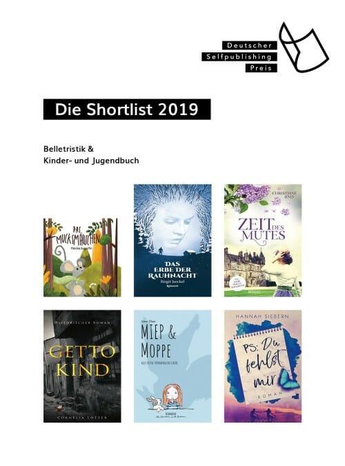 Shortlist »Belletristik & Kinder- und Jugendbuch«