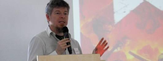 Videospielexperte Dr. Hans-Joachim Backe von der IT University Kopenhagen auf der Narrativa (Foto: Tischer)