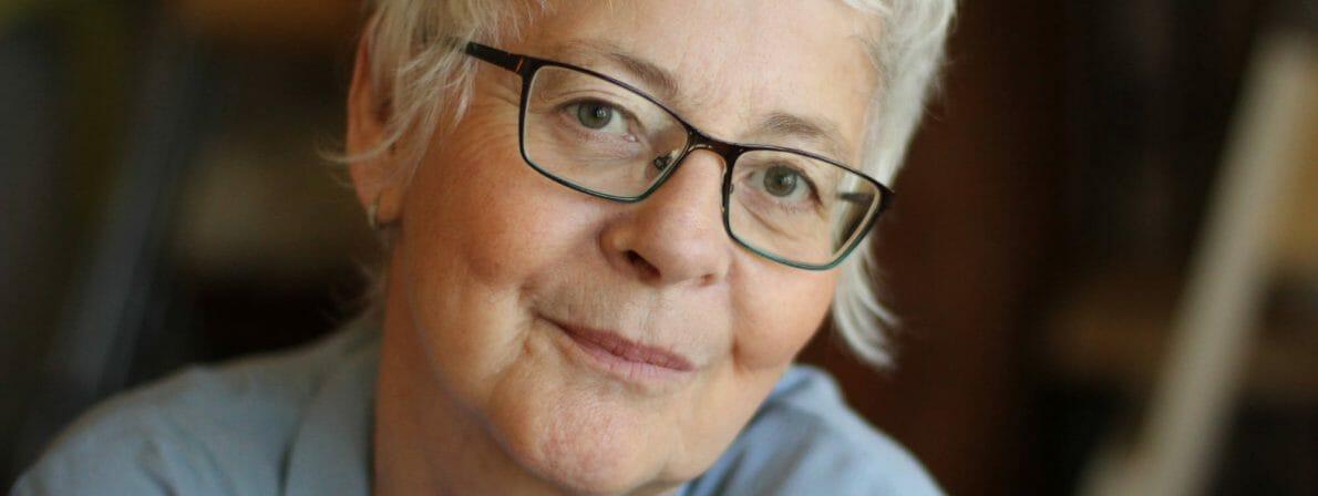 Jocelyne Saucier erzählt von der Entstehung ihres Romans »Was dir bleibt« (Insel Verlag) (Foto: Ariane Ouellet)