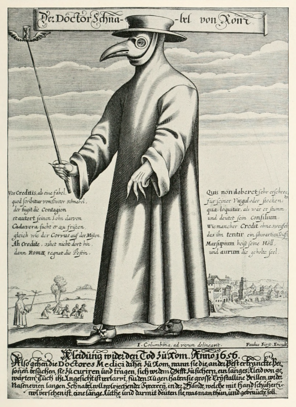 Bekanntes Pest-Motiv: Paul Fürst, Der Doctor Schnabel von Rom (Wikipedia)