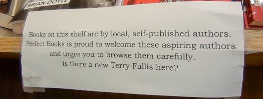 Hinweis auf Bücher von Self-Publishern bei Perfect Books