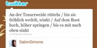 Gewinner-Beitrag des 2. Twitter-Lyrik-Wettbewerbs: Bestes Twitter-Gedicht kommt aus Österreich