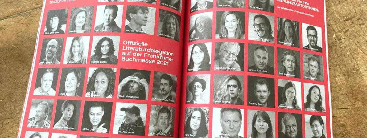 Rund 60 kanadische Autor:innen sollen 2021 nach Frankfurt kommen