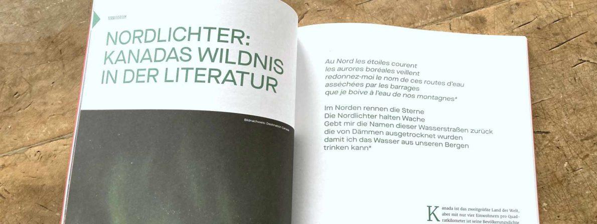 Die kanadischen Territorien wurden im Magazin mit »Territorium« übersetzt