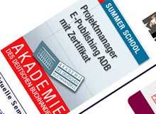 Summer School der Akademie des Deutschen Buchhandels bildet »Projektmanager E-Publishing« aus