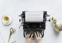 Schreiben an der Schreibmaschine