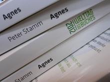 Buchrücken: Peter Stamm: Agnes - Sonderausgabe zum Welttag des Buches 2012