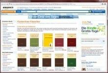 Die Amazon-Website ist die beste und unkomplizierteste Quelle, um kostenlose E-Books aufs Kindle zu laden.