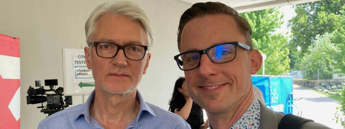Bachmannpreis-Moderator Christian Ankowitsch (links) und Justitiar Magister Andreas Sourij (Foto: Tischer)
