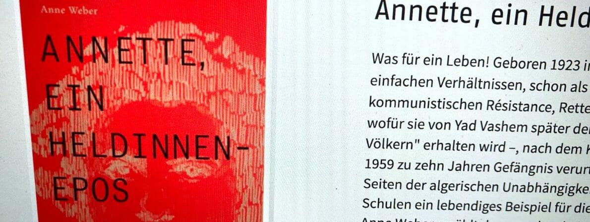Anne Weber: Annette, ein Heldinnenepos