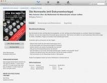 Nicht ganz so einfach, aber schließlich doch gelistet: Unser E-Book bei Apple.