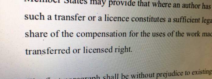 Artikel 12 des Entwurfs der EU-Urheberrichtlinie