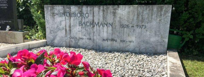 Das Grab von Ingeborg Bachmann auf dem Zentralfriedhof Annabichl in Klagenfurt