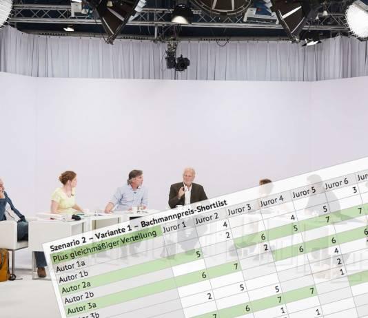 Die Bachmannpreis-Shotlist in Zahlen und Szenarien (Jury-Foto: ORF/Johannes Puch)