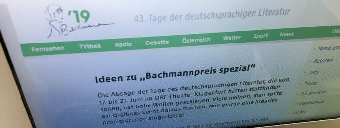 Der ORF arbeitet am »Bachmannpreis spezial«