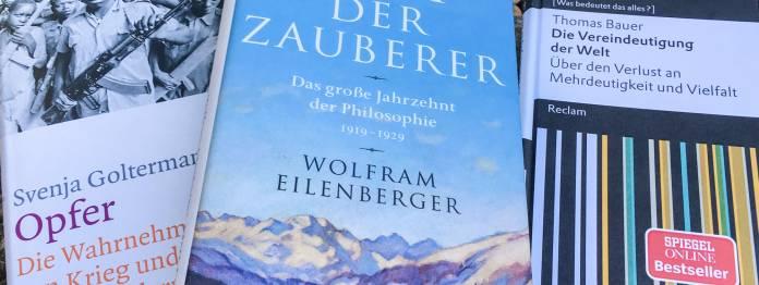 Die nominierten Sachbücher für den Bayerischen Buchpreis 2018