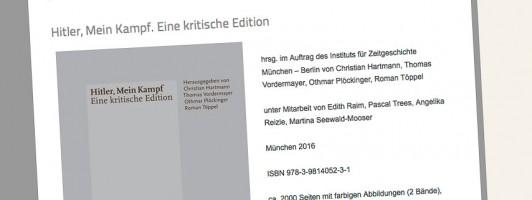 Die krtische Ausgabe, erstellt im Auftrag des bayerischen Staates
