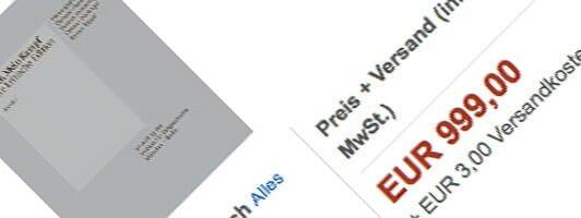 Die kritische Ausgabe von »Mein Kampf« wird derzeit für 1.000 Euro angeboten