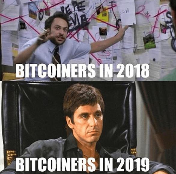 Bitcoiners in 2018 und 2019