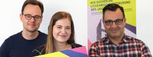 Das Blogbuster-Organisationsteam: Oliver Koschmieder (links), Katharina Binder und Tobias Nazemi (Foto: blogbuster-preis.de)