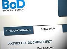 Screenshot: BoD Produktauswahl