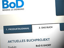 Screenshot: BoD Produktauswahl