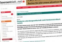 Nach Elke Heidenreich jetzt auch Börsenblatt des Deutschen Buchhandels von Zuschussverlag instrumentalisiert [Nachtrag]