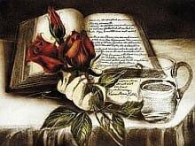 Friedrich Halm (1806-1871): Buch und Rose
