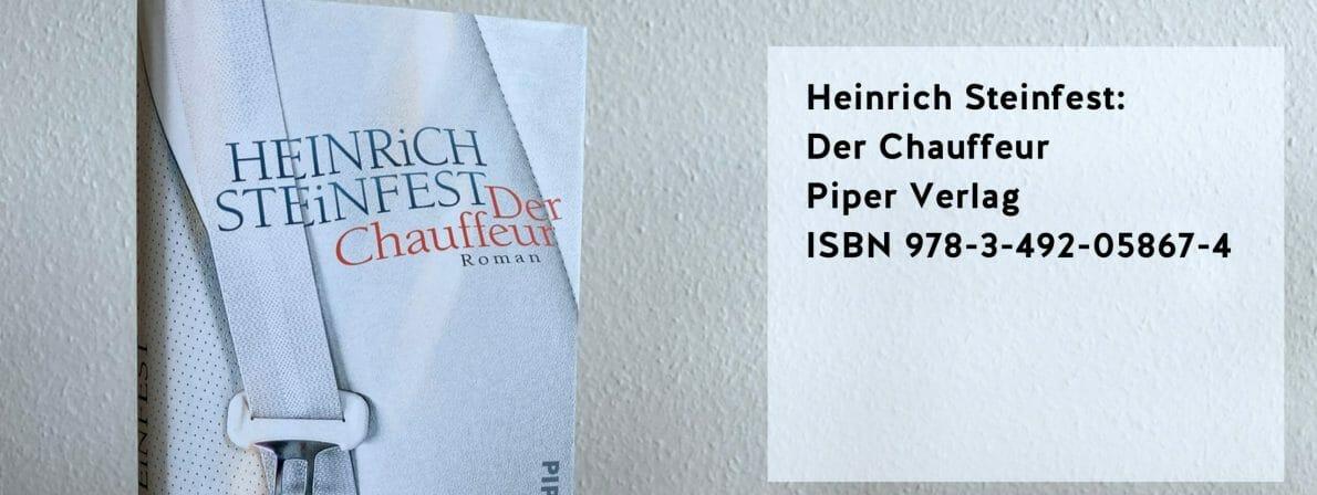 Steinfest, Heinrich: Der Chauffeur. Roman. 2020. Piper Verlag. ISBN 978-3-492-05867-4