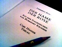 Titelblatt eines Buches von Umberto Eco