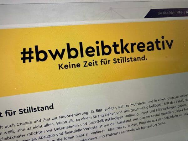 Kampagne #bwbleibtkreativ