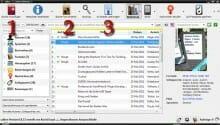 Mit Calibre lassen sich Bücher rasch ins Kindle-Format konvertieren. Über »Bücher hinzufügen« (1) wird die Datei geladen, mit »Bücher konvertieren« (2) umgewandelt und anschließend an den Kindle-Reader übertragen (3).