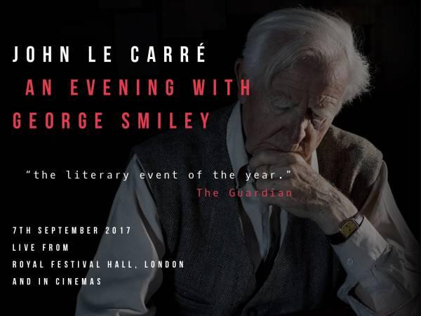 John le Carré liest am 17. September 2017 in der Londoner Royal Festival Hall (Foto: Nadav Kandar)