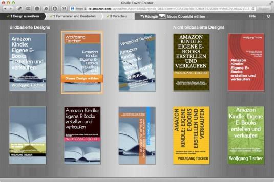 Alternatives Cover gefällig? Amazons Cover Creator macht Vorschläge, die gar nicht mal so schlecht aussehen.