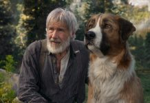 Harrison Ford (links) mit Filmhund Buck (rechts) (Foto: 20th Century Studios/Disney)